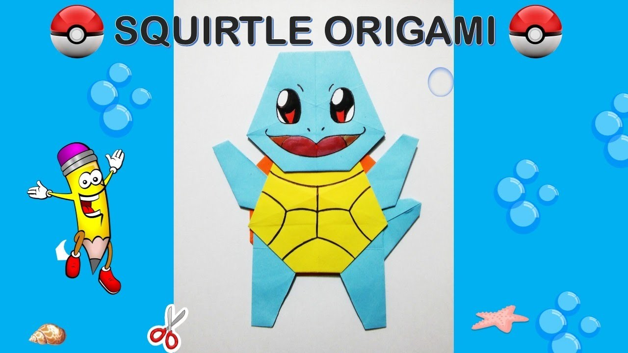 Easy Origami Pokemon: Pikachu, Charmander, and Squirtle | Pink ... | 720x1280