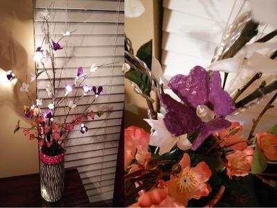 **RECICLAJE **como hacer una lampiflowers (lampara de flores) =D
