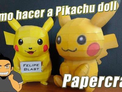 Tutorial ★ Como hacer un Muñeco de Pikachu (Pikachu Doll) - Pokemon Papercraft