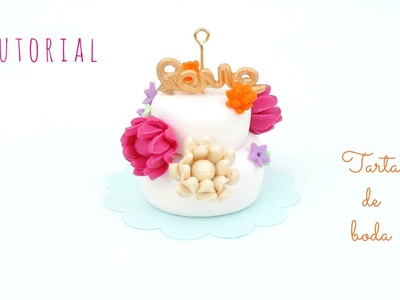 Tutorial: Tarta de boda con flores de fimo