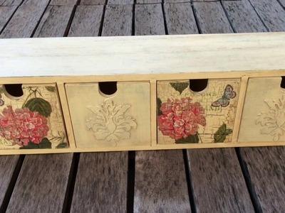 Cómo decorar cajonera vintage - craquelado y relieve- MYBA