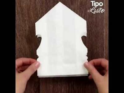 Como hacer estrellas de navidad con bolsas de papel.