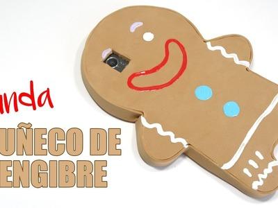 COMO HACER FUNDA PARA CELULAR FÁCIL Y BONITA DE MUÑECO DE JENGIBRE ♥ Qué cositas