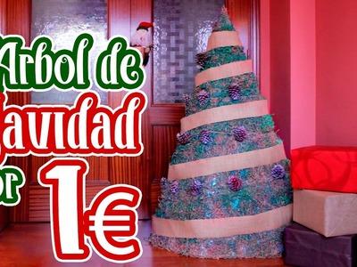 Como hacer un Árbol de Navidad por 1€. DIY.