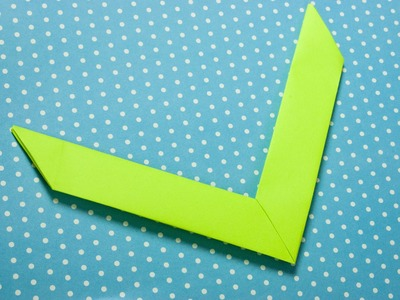 Como hacer un boomerang de papel origami