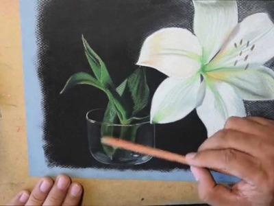 Como Pintar y Dibujar una Flor con Tiza Pastel | How to Draw a Flower with Soft Pastels