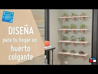 Diseña para tu hogar un huerto colgante