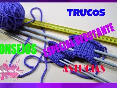 DIY. Consejos, trucos y astucias que debes saber cuando aprendes a tejer.Tips for knitting.