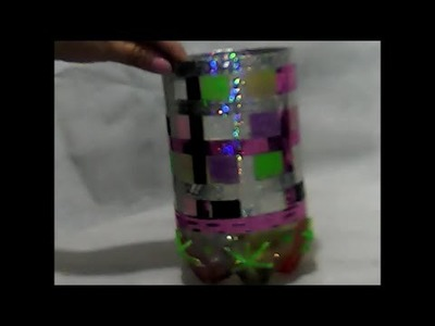 Florero de botella de plastico--- plastic bottle vase-- vaso de garrafa de plástico