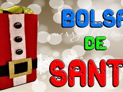 ★Hagamos BOLSAS para REGALO en forma de SANTA CLAUS★