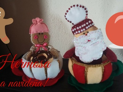 ¡Hermosa tacita navideña!