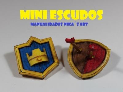 Mini Escudos de Clash Royale y Clash of Clans