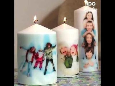 Mira lo fácil que es poner tus fotos en velas.