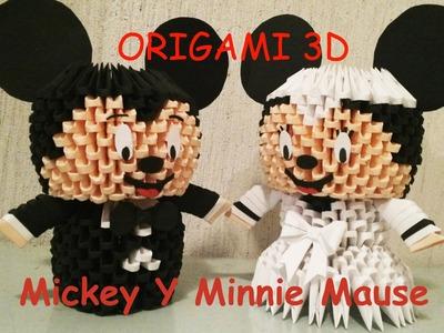Origami 3D Mickey Mause y Minnie Mause - Novios