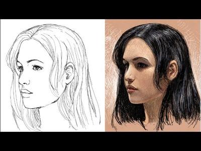 Como dibujar la cara de tres cuartos (explicado)