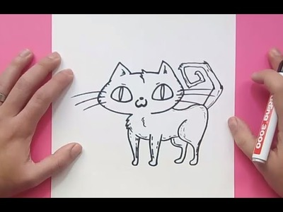 Como dibujar un gato paso a paso 26 | How to draw a cat 26