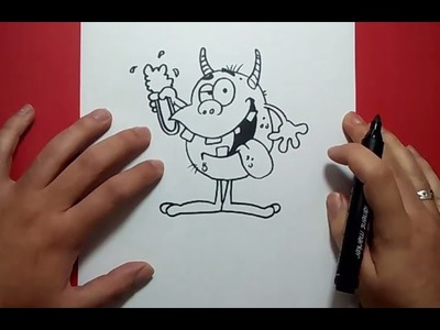 Como dibujar un monstruo paso a paso 10 | How to draw a monster 10