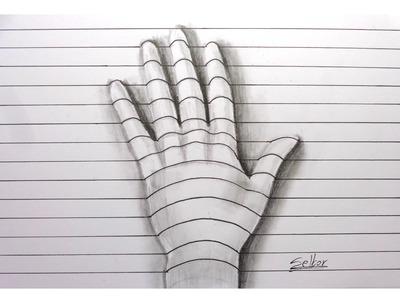 Cómo dibujar una mano con relieve - 3D (Paso a paso) | Selbor