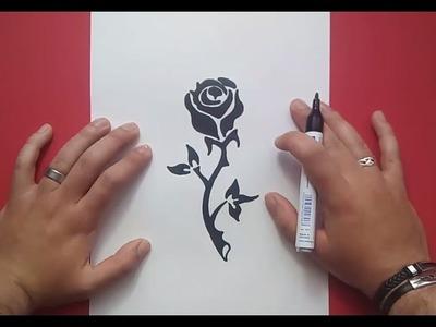 Como dibujar una rosa paso a paso 9 | How to draw a rose 9