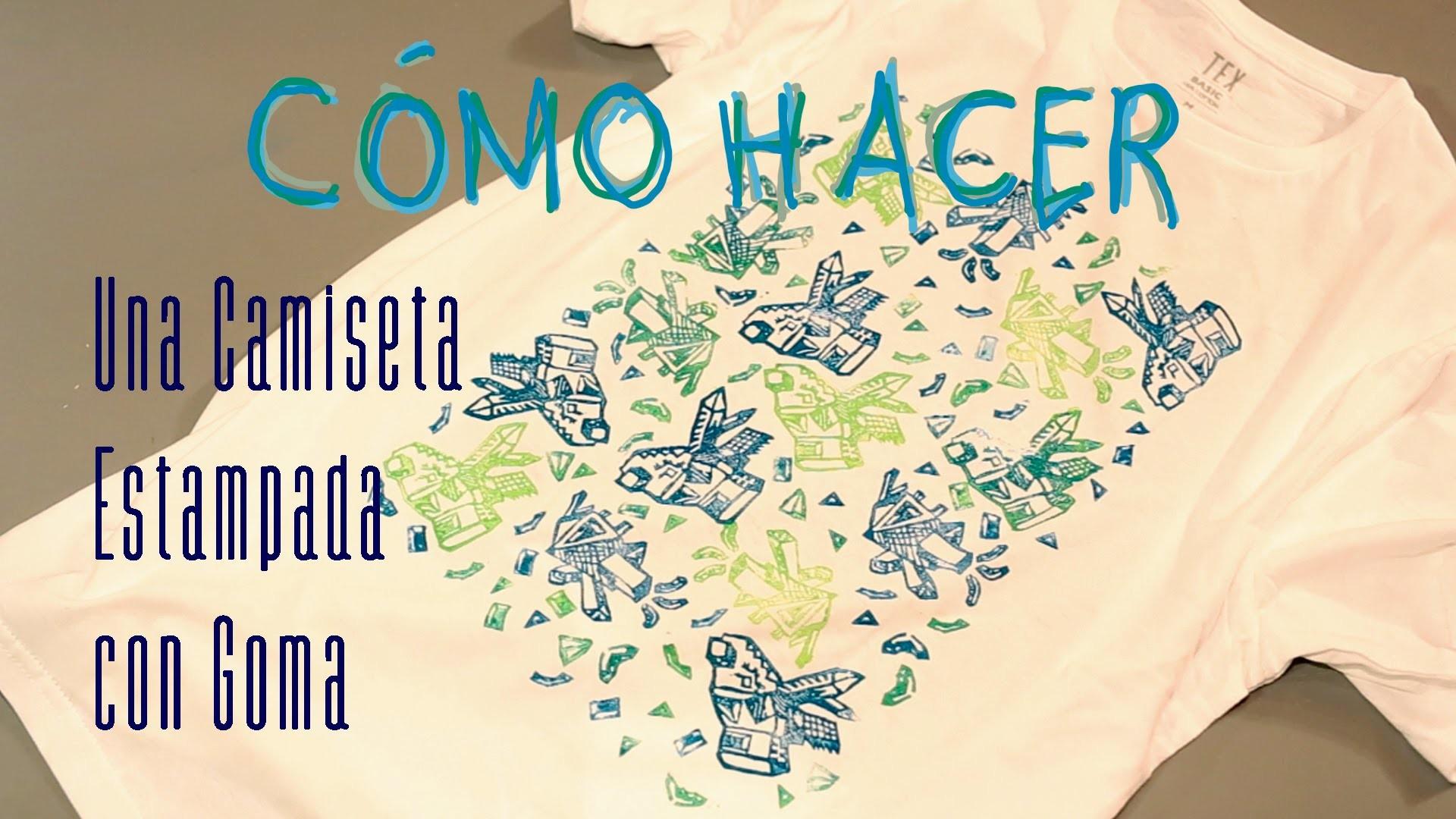 Cómo estampar camiseta, t-shirt con sello de goma-carvado, casero