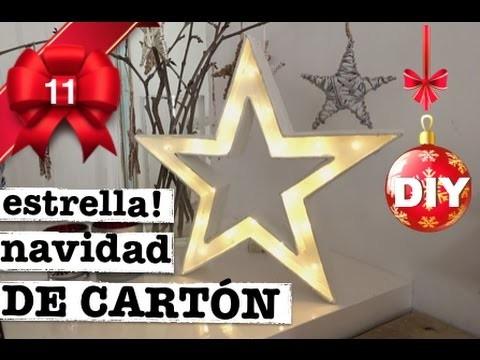 Como hacer estrella navidad luminosa de cart n - Como hacer estrellas de navidad ...