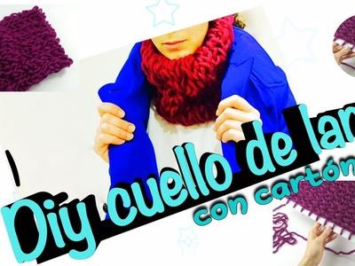 Cómo tejer un cuello bufanda de lana con cartón ◁❄️⛄️