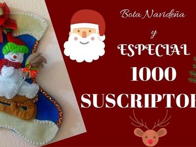 Linda Bota Navideña y ¡SORTEO INTERNACIONAL POR LOS 1000 SUSCRIPTORES!