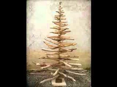 Trozos de madera de árboles de Navidad