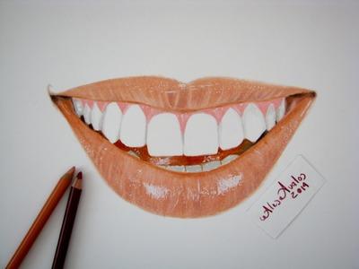 Tutorial: Cómo dibujar una sonrisa con lápices de colores