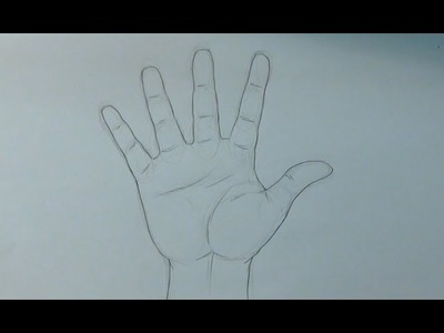 Aprende a dibujar una mano abierta - How to draw an open hand