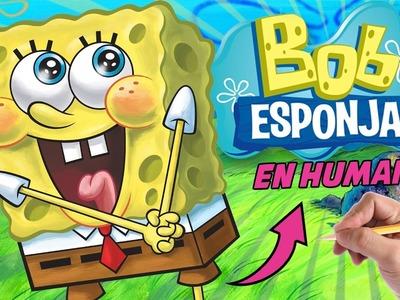COMO DIBUJAR A BOB ESPONJA EN HUMANO - Como dibujar a spongebob en humano