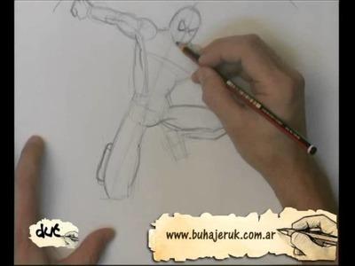 Como dibujar a el hombre araña
