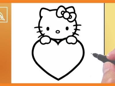 Cómo Dibujar a Kitty Con Corazón 2 - Drawing Kitty With Heart 2 | Dibujando