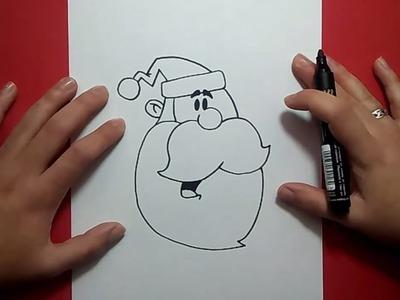 Como dibujar a papa noel paso a paso 8 | How to draw Santa Claus 8