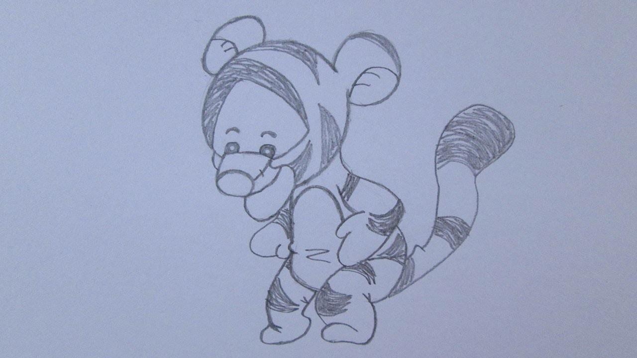 Cómo dibujar a Tigger de Winnie the Pooh