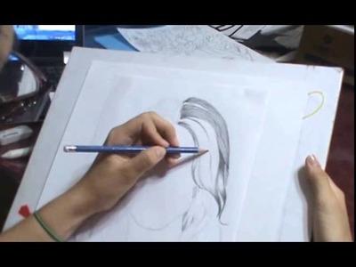 Como dibujar cabello realista a grafito