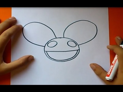 Como dibujar el casco de deadmau5 paso a paso | How to draw deadmau5 helmet