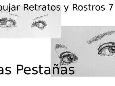 Como Dibujar Retratos y Rostros 7: Dibujar Pestañas | Tecnica de Dibujo de Retrato