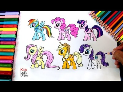 Cómo dibujar todas las ponis de My Little Pony | How to draw all ponies from My Little Pony