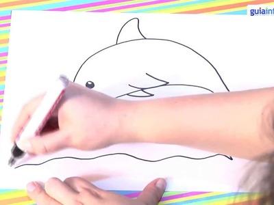 Cómo dibujar un delfín