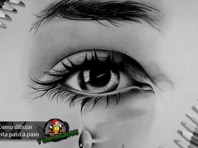 Como dibujar un ojo realista y pestañas paso a paso bien explicado I How to Draw a Realistic Eye