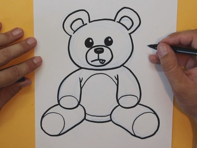 Cómo dibujar un Osito Peluche - How to draw a Teddy Bear