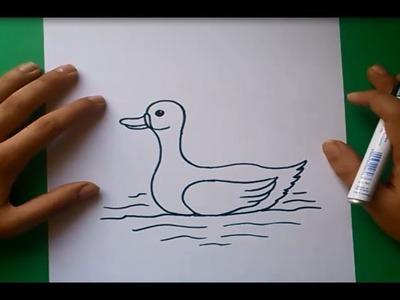 Como dibujar un pato paso a paso 2 | How to draw a duck 2