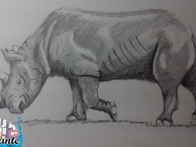 Como Dibujar un Rinoceronte paso a paso [El Dibujante]
