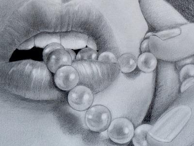 Cómo dibujar una boca con perlas - Arte Divierte.