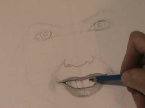 Cómo dibujar una boca de mujer sonriendo.MPG