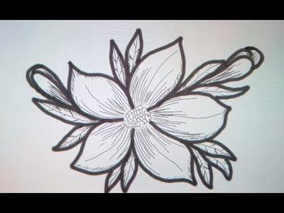 Como dibujar una flor - Art Academy Atelier Wii U | How to draw a flower - Art Academy Atelier Wii U