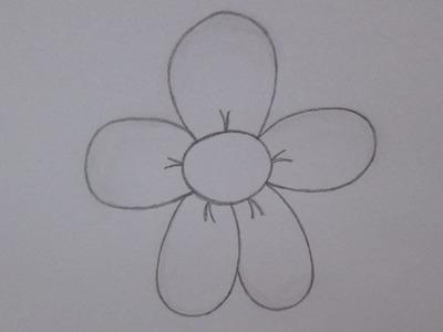 Cómo dibujar una flor de la margarita