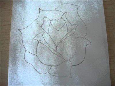 Como dibujar una Rosa - 1nki3t0