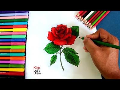 Cómo dibujar una Rosa paso a paso | How to draw a Rose - 2.10
